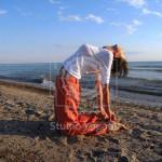Ásana velbloud / jóga Studio Yogata