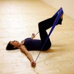 """Pilates """"výzva"""" pro power house- cvičení s gumou"""