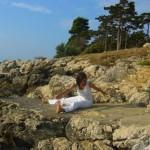 cvičení rotace páteře u moře