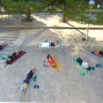 Jogalates cvičení u moře
